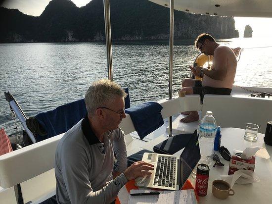 relaxing in the office hidden between three islands - Picture of
