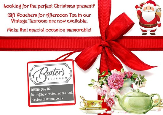 Our Afternoon Tea Gift Vouchers make perfect Christmas presents