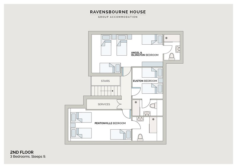 Ravensbourne House London Group Accommodation Updated