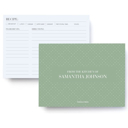Personalized Recipe Cards and Box for Mom Pinhole Press