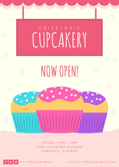 Parks And Recreation Wallpaper Quotes Pink Cupcake Grand Opening Flyer Templates By Canva