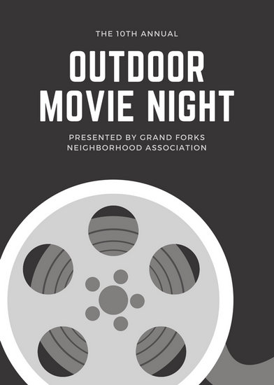 Monochrome Reel Movie Night Flyer - Templates by Canva - movie night flyer template