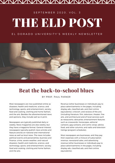 school newsletter formats - Romeolandinez - Newsletter Format