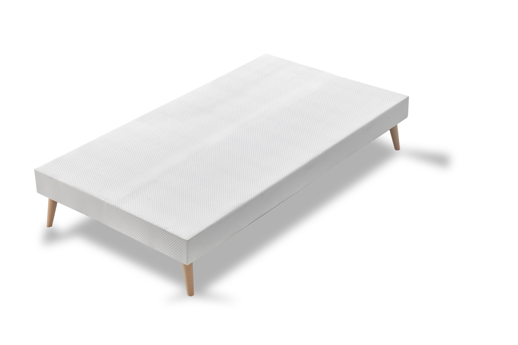 Sommier 4 Pieds Sommier Bob 90x200 Blanc