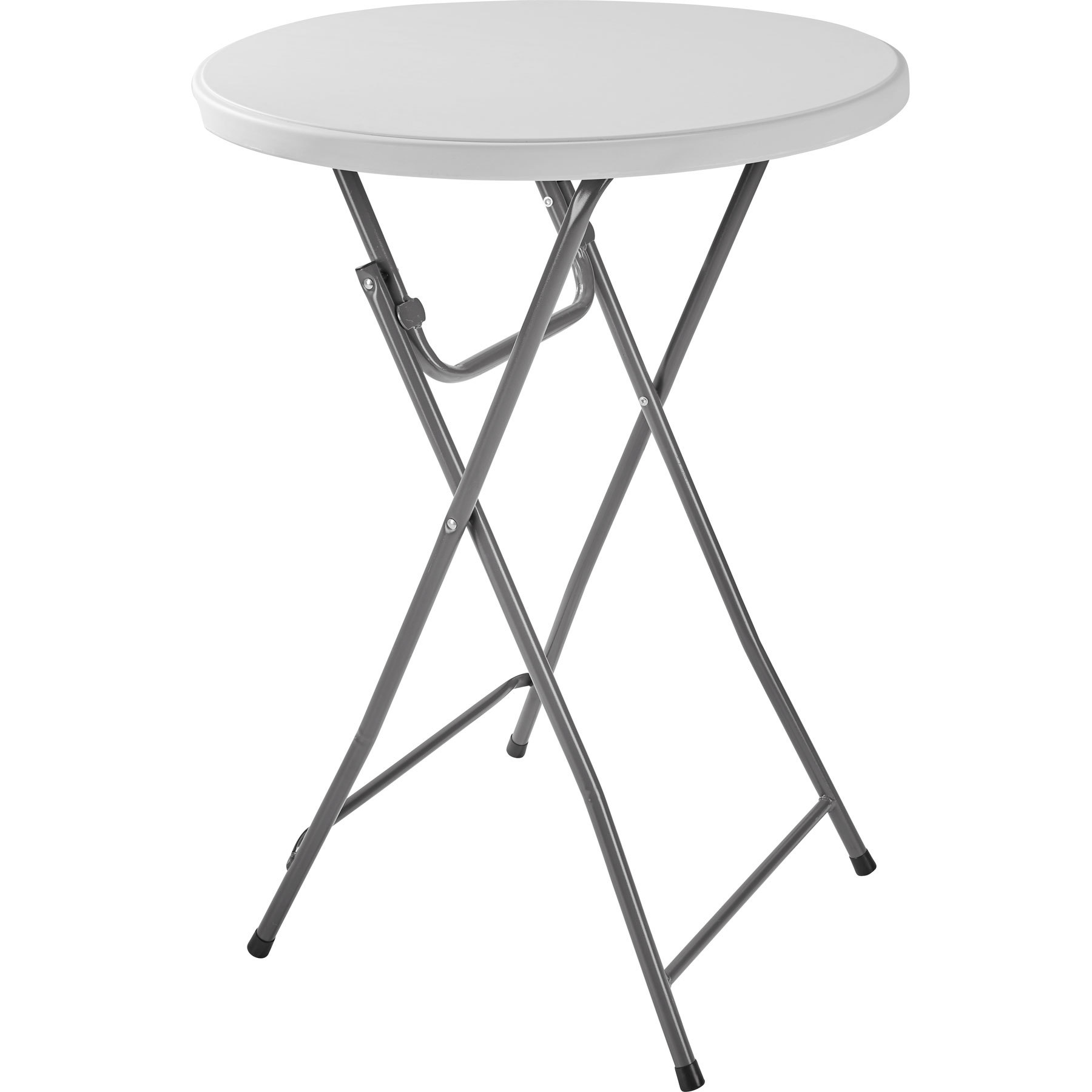 Table Pliante Légère Table Haute Table De Jardin Table De Bar Table Haute Mange Debout Table De Bistro Pliante 80 Cm X 80 Cm X 110 Cm Gris