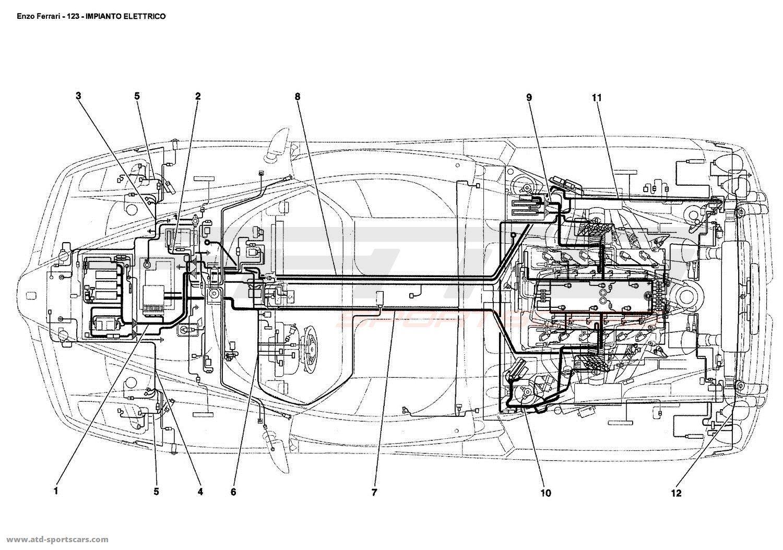 ferrari engine schematics