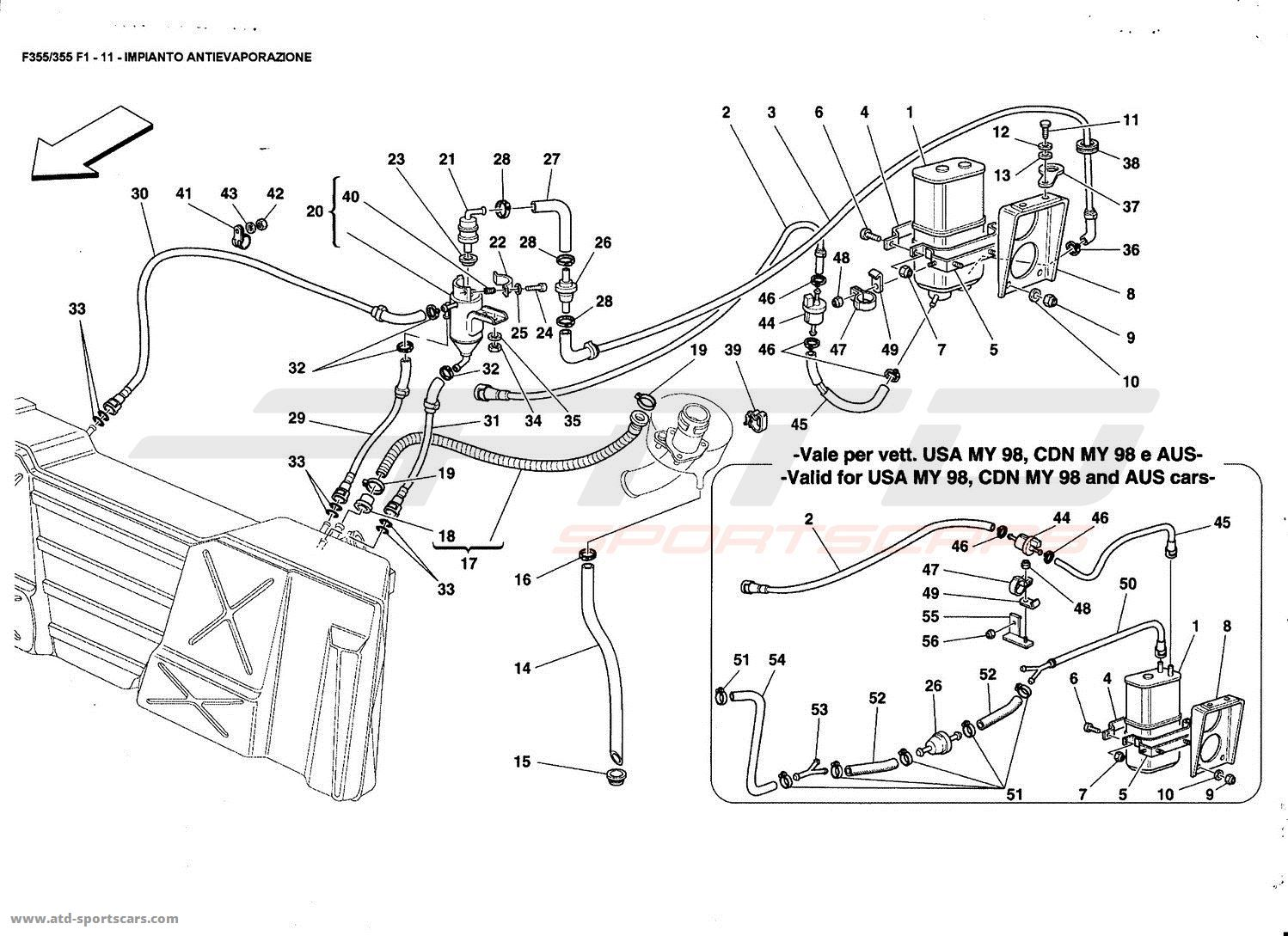 ferrari f355 engine diagram
