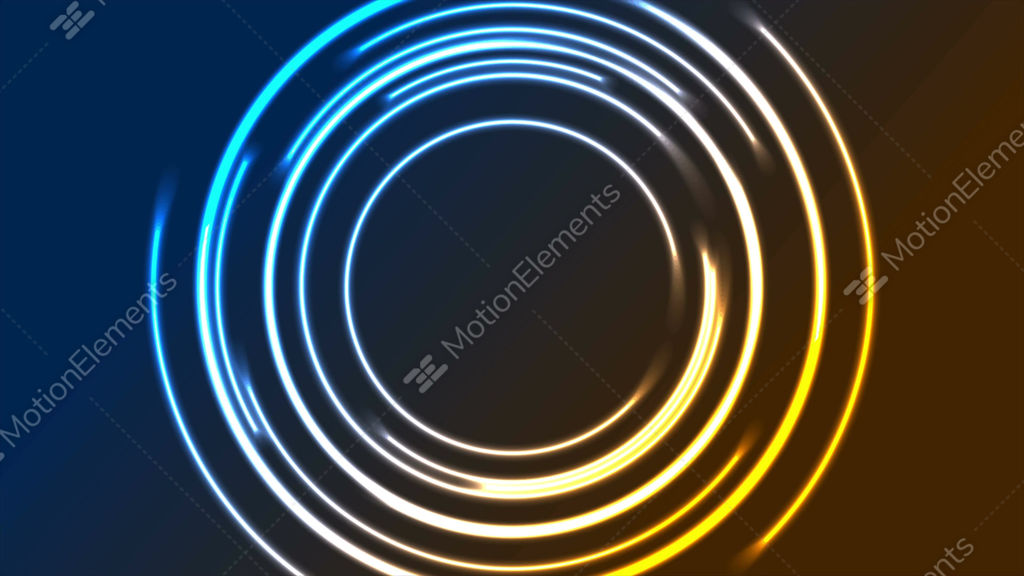 Colorful Glowing Neon Circles Video Animation Stock Animation 10505673