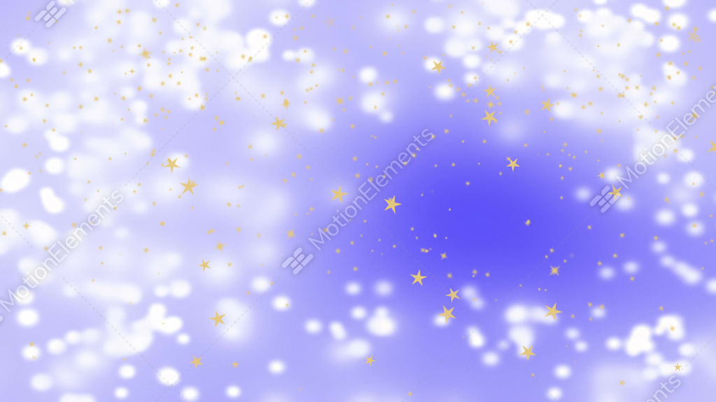 Golden Stars Falling Over Beautiful Soft Purple Background, Blurred