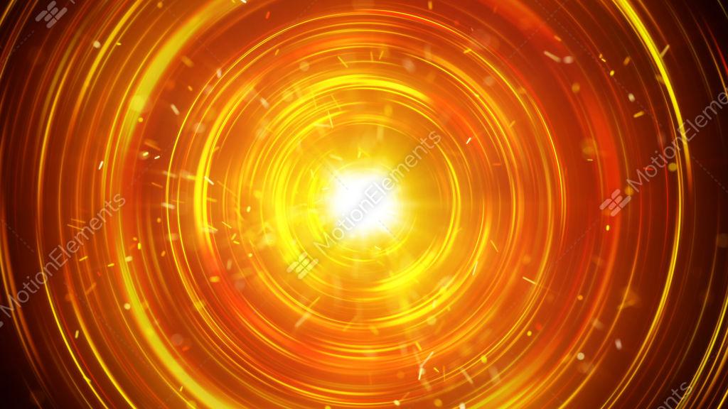Orange Glowing Circles Fast Flashing Seamless Loop Animation Stock