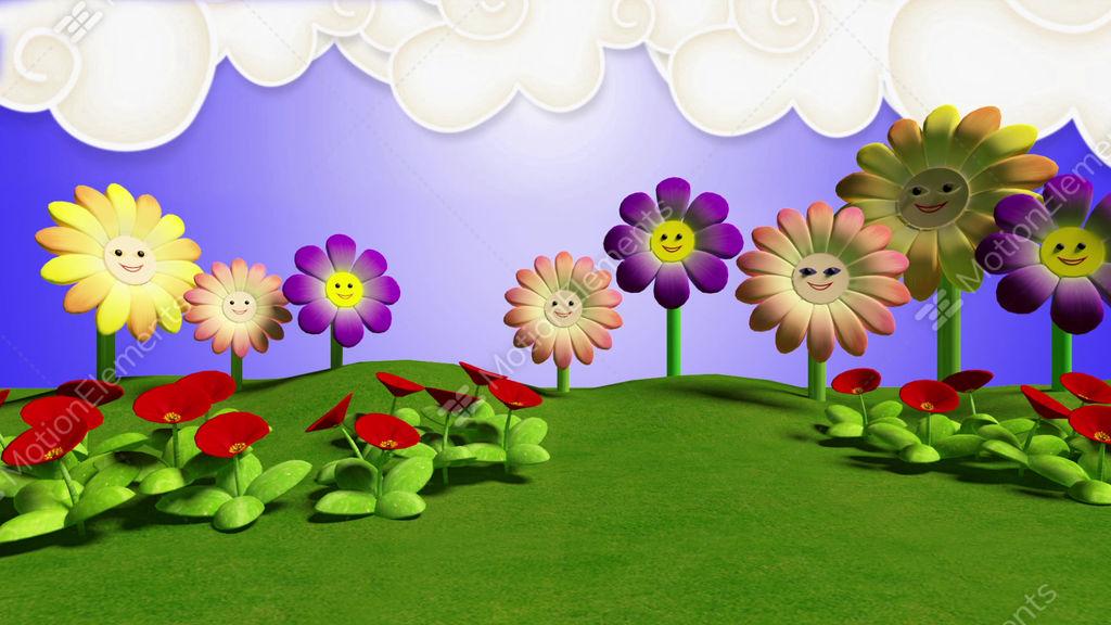 Kids TV Studio Set 03 - Virtual Background Loop Stock video footage
