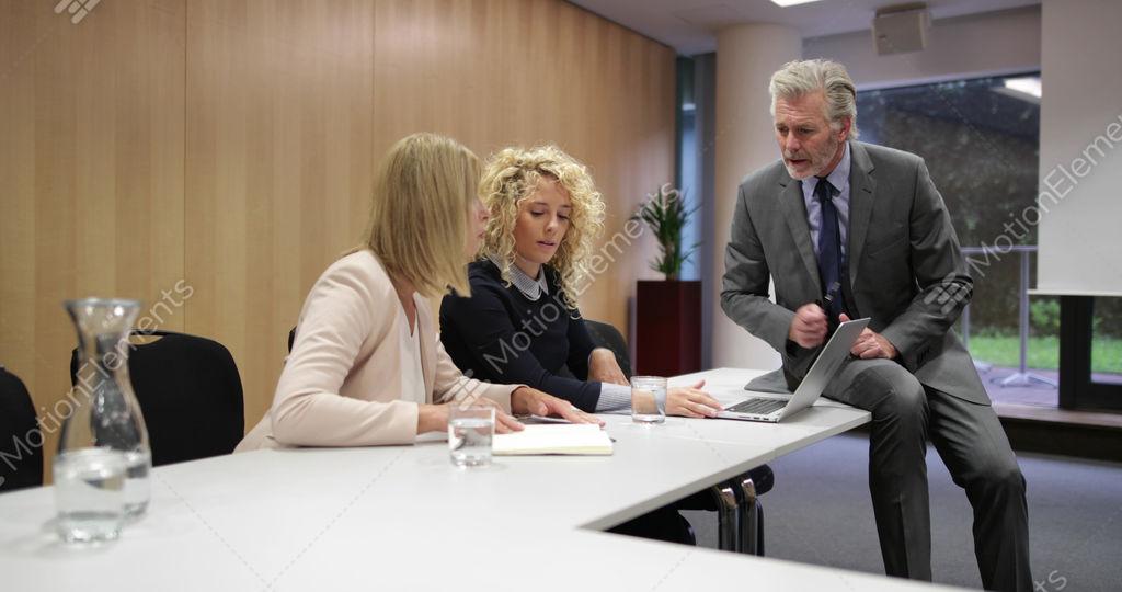 Informal Corporate Business Meeting Stock video footage 11732211