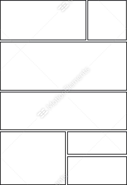 Comic Storyboard With Seven Grid Layout Stock Vector 11753071