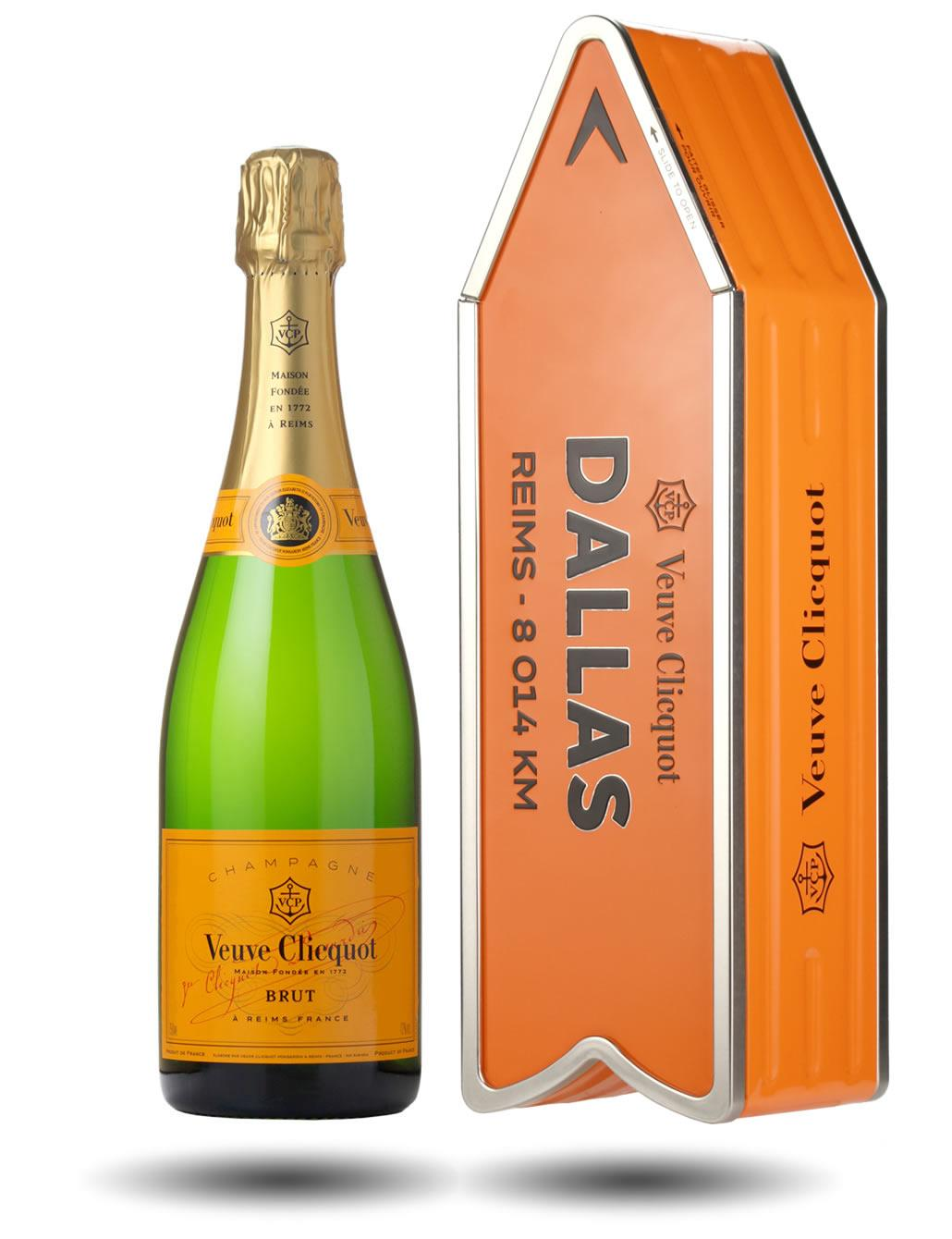 Veuve Clicquot Brut Veuve Clicquot Yellow Label Brut Arrow Tin Dallas Wine