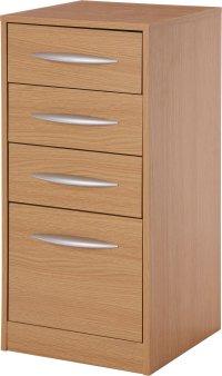 Buy HOME Wooden 4 Drawer Filing Cabinet - Oak Effect at ...
