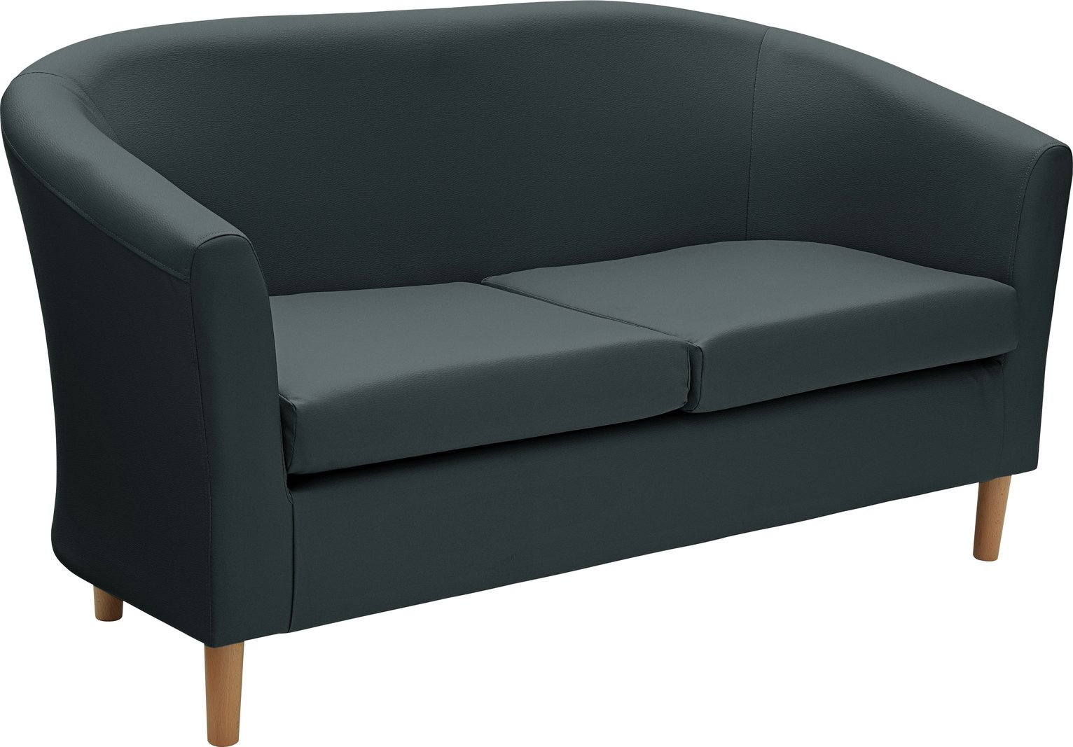 Sale On Argos Home 2 Seater Leather Effect Tub Sofa
