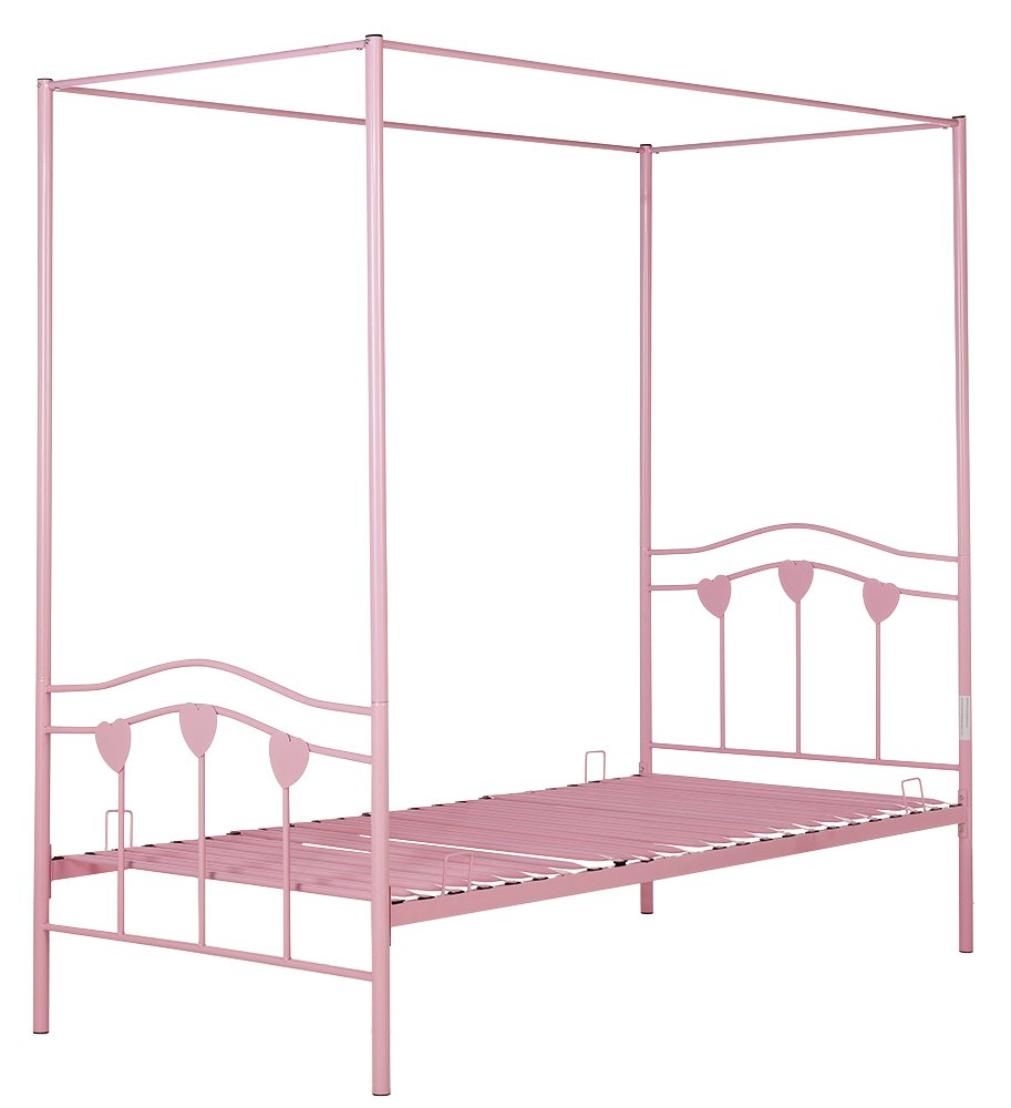Single Four Poster Bed Argos Home Hearts Pink Single 4 Poster Bed Frame