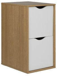 Buy HOME Berkeley Filing Cabinet - White and Oak Effect at ...