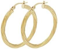 Buy Bracci 9ct Gold 30mm Twist Hoop Earrings at Argos.co ...