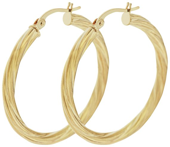 Buy Bracci 9ct Gold 30mm Twist Hoop Earrings at Argos.co
