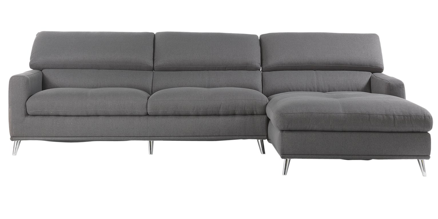 Sale On Hygena Azores Fabric Right Hand Corner Sofa Grey Hygena Now Available Our Best Pri