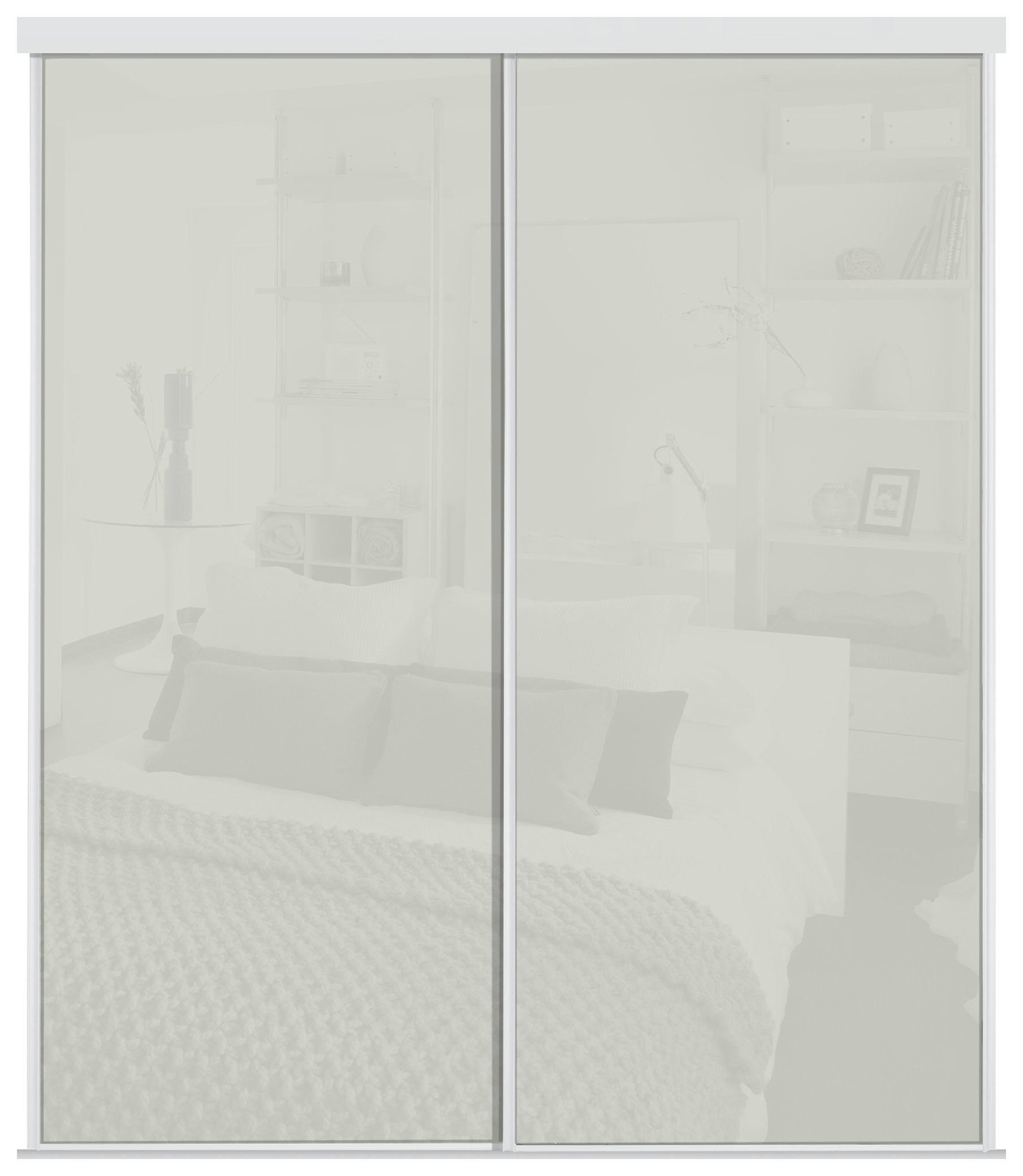 Wardrobe Kits Sale On Sliding Wardrobe Door Kit W1498mm Arctic White