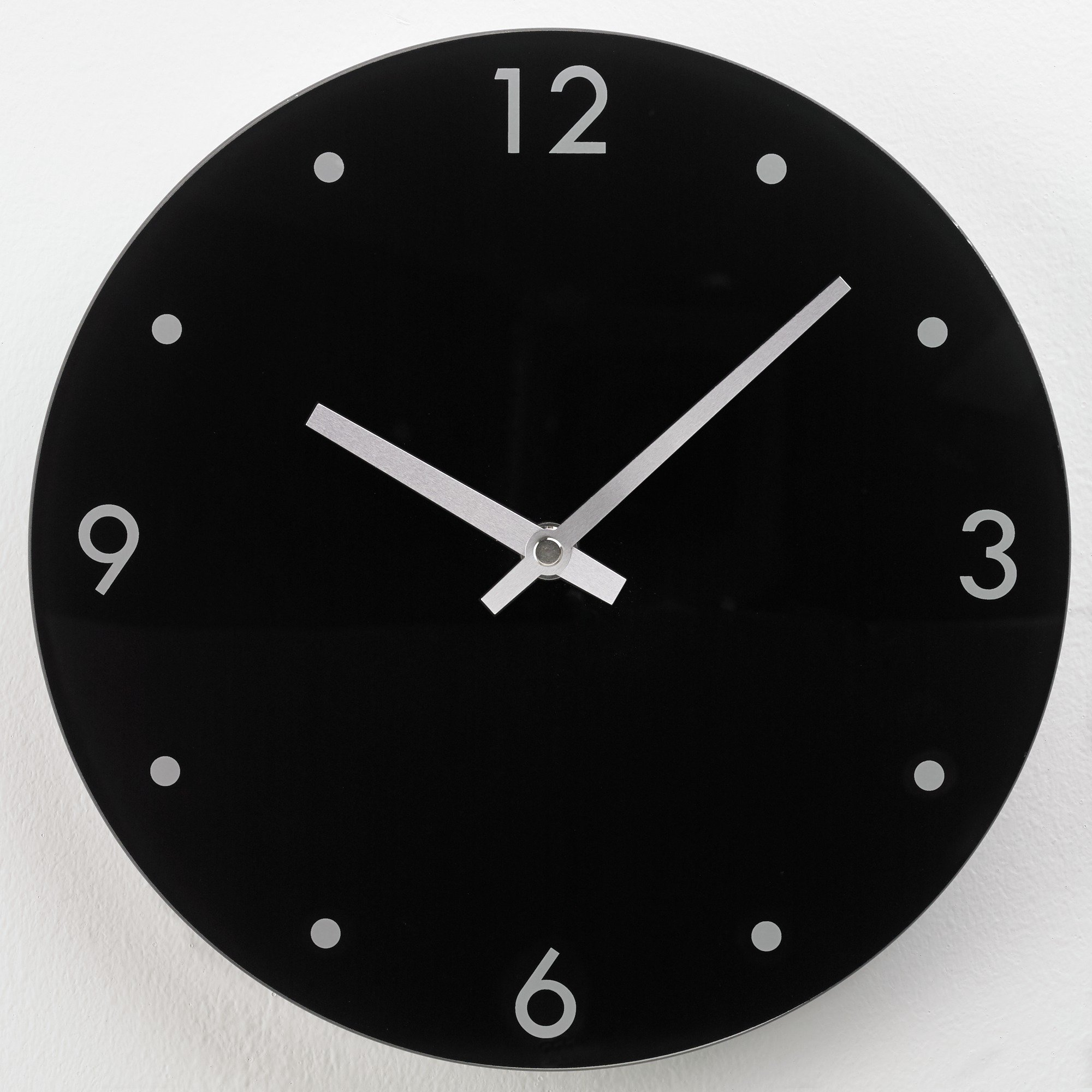 Wall Clocks Glass Home Round Glass Wall Clock