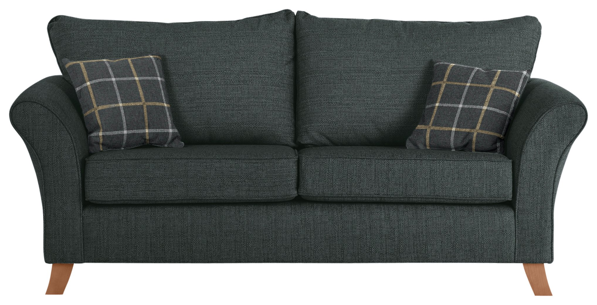 Sale On Argos Home Kayla 3 Seater High Back Fabric