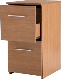 2 Drawer Filing Cabinet - Oak Effect Review