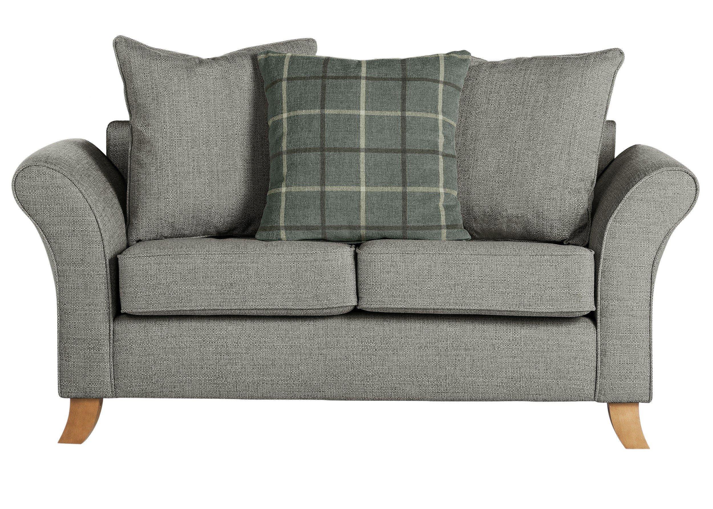 Sale On Argos Home Kayla 2 Seater Fabric Sofa Grey