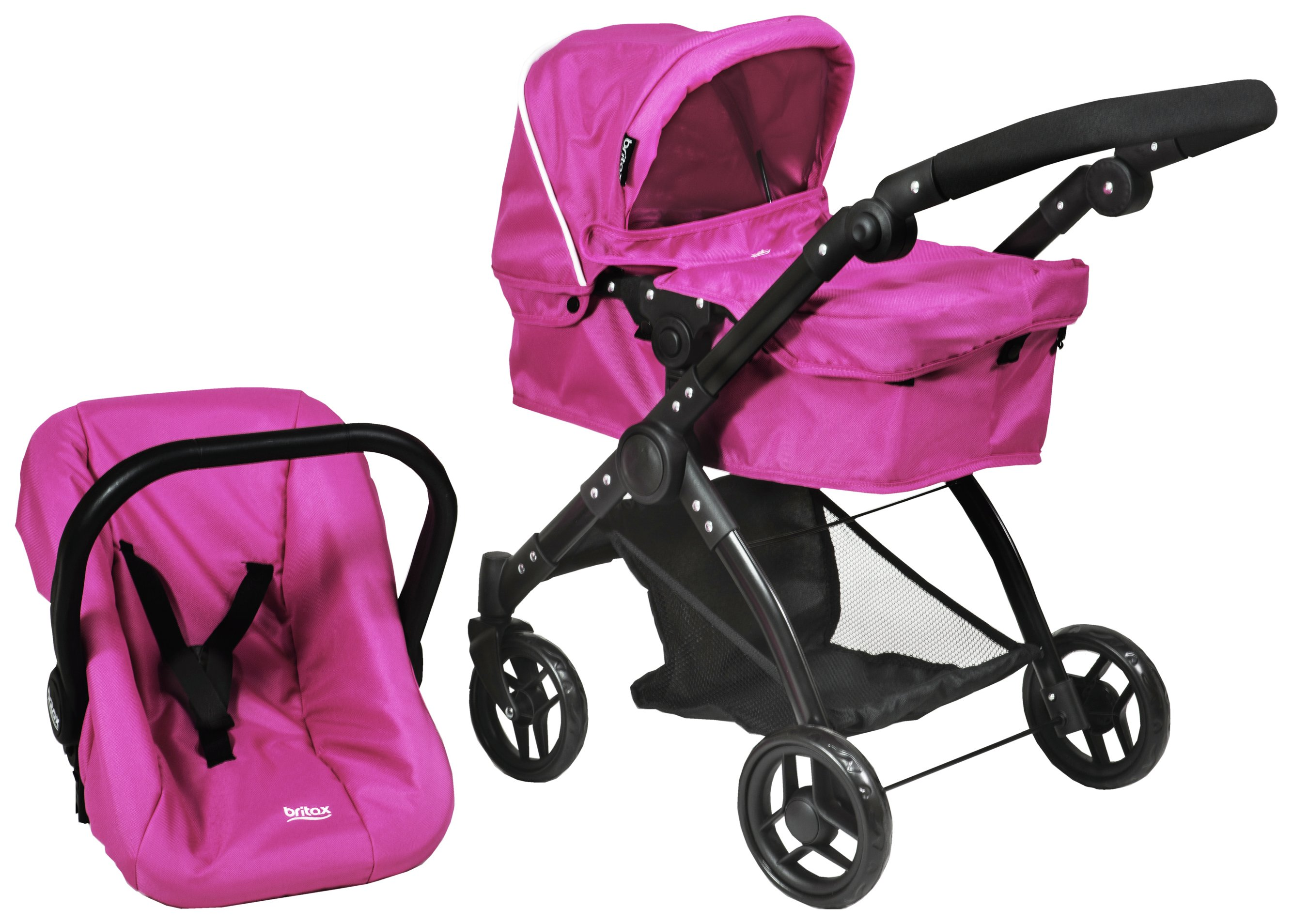 3 Wheel Prams Argos Britax Smile 3 In 1 Dolls Stroller Hot Pink
