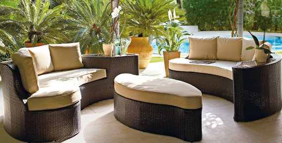 Sitzecke Rattan Buy Collection Rattan Effect 6 Seater Patio Sofa Set 2