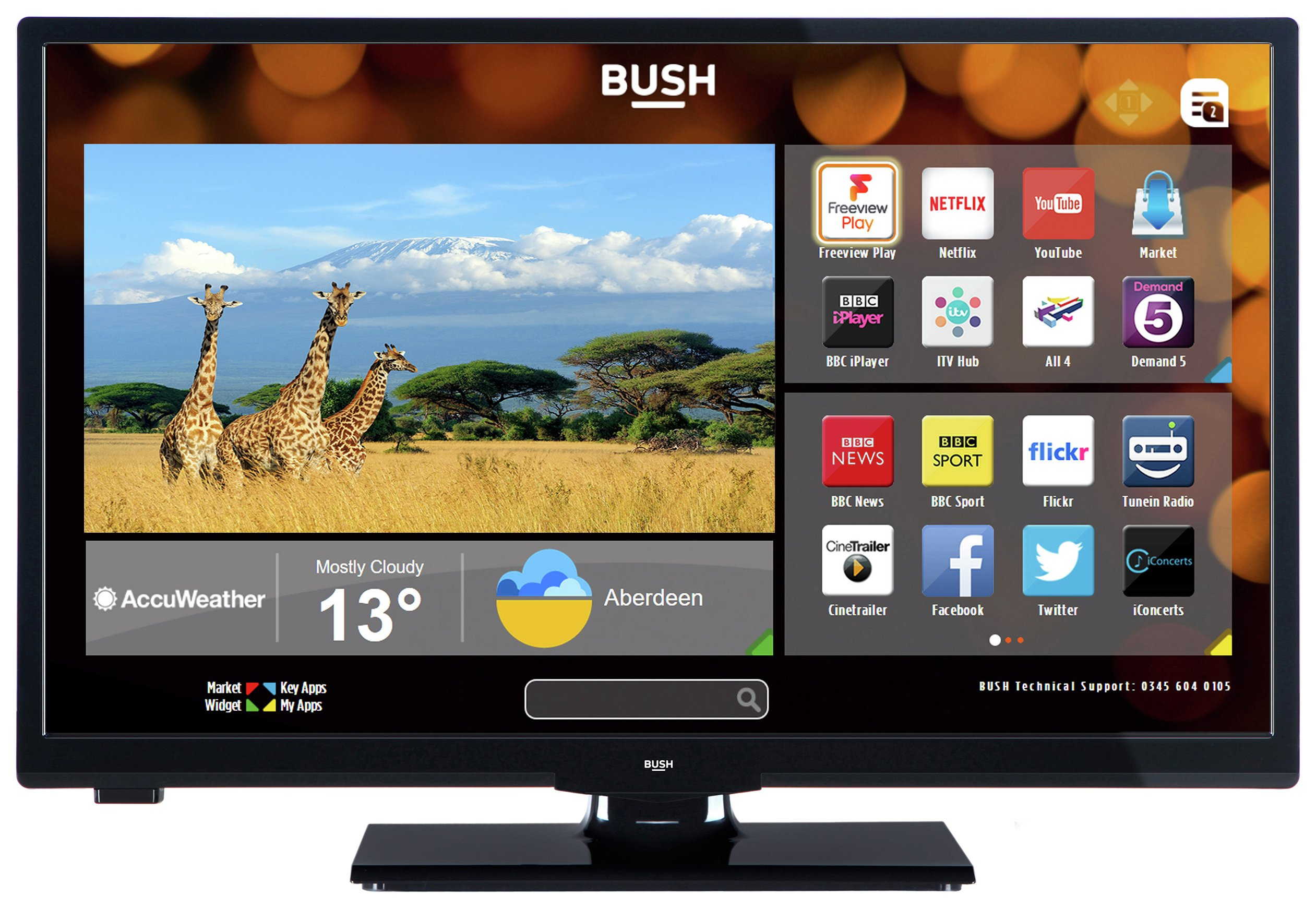 24 Im Tv Sale On Bush 24 Inch Hd Ready Smart Tv With Dvd Player