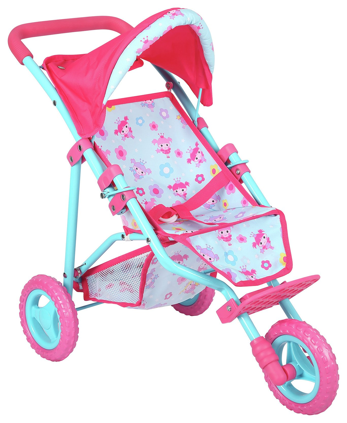 3 Wheel Prams Argos Dollsworld Deluxe 3 Wheel Fold Stroller 6809047 Argos