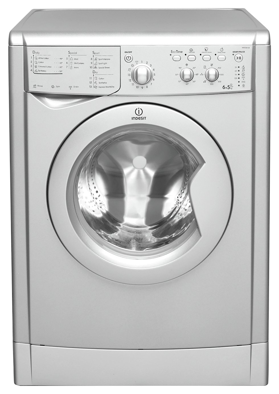 Indesit Iwdc 6125 Indesit Iwdc 6125 S 6kg 5kg 1200 Spin Washer Dryer Silver