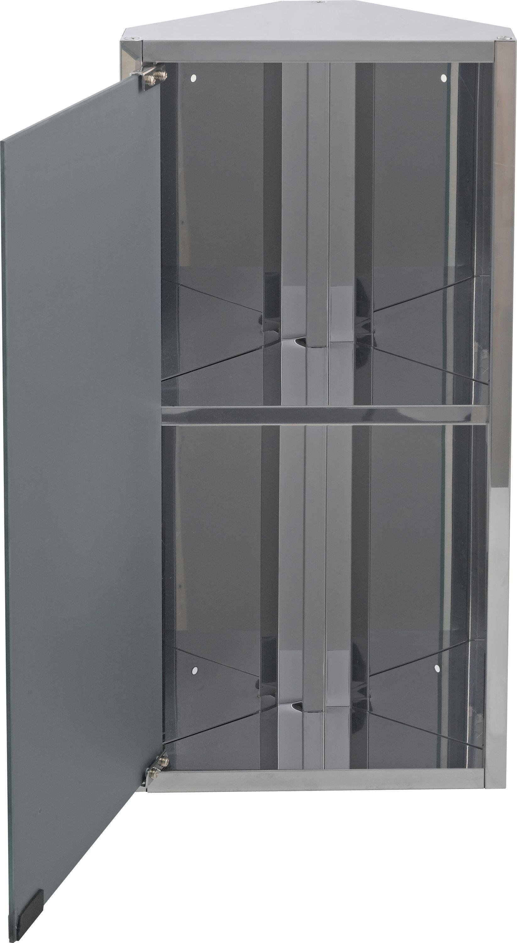Stainless Steel Mirrored Bathroom Cabinets Home Mirrored Bathroom Corner Cabinet Stainless Steel