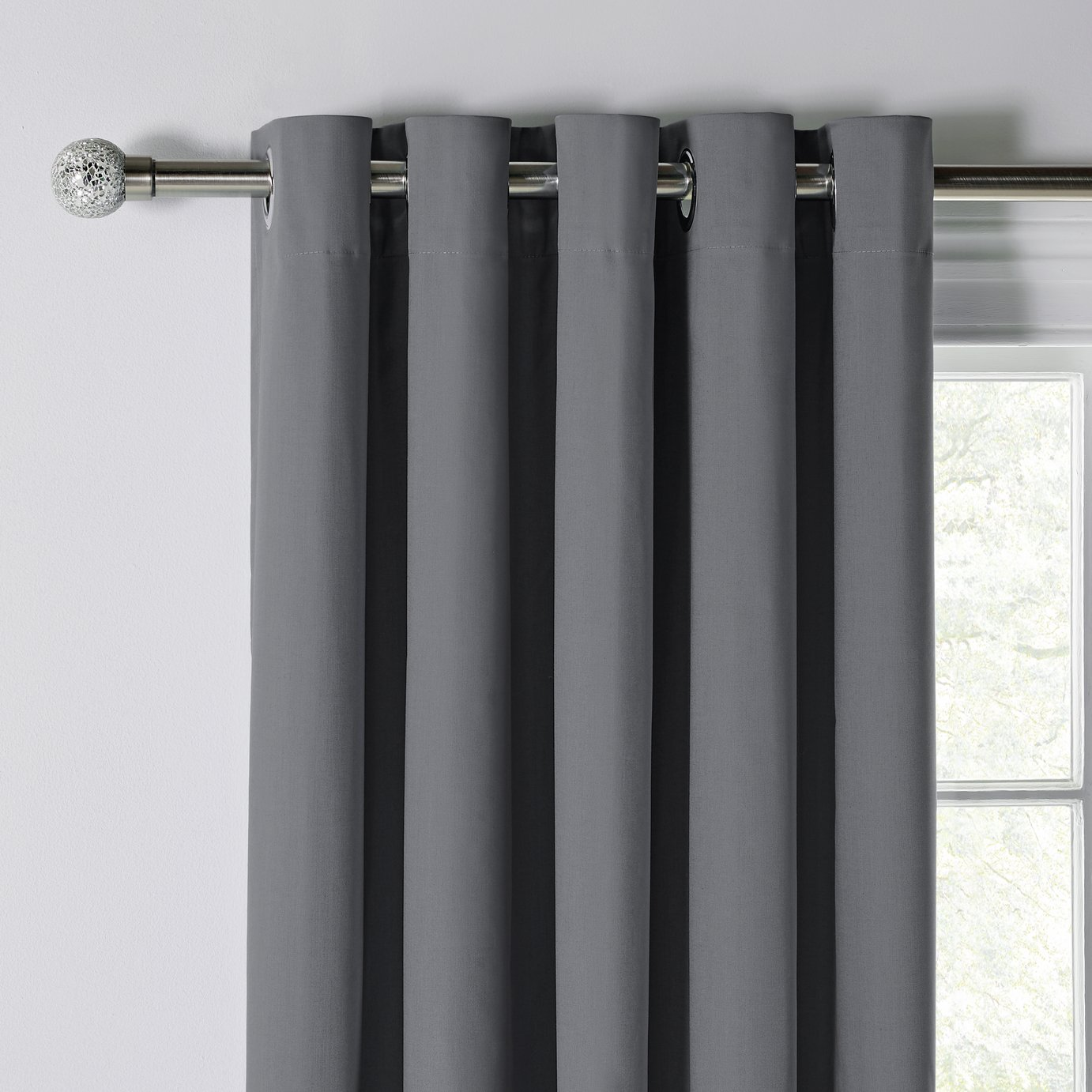 Grey Thermal Curtains Argos Home Blackout Thermal Curtains 117x137cm Flint Grey