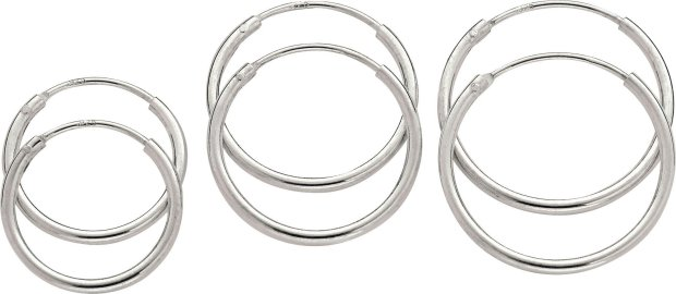 Buy Revere Sterling Silver Hoop Earrings