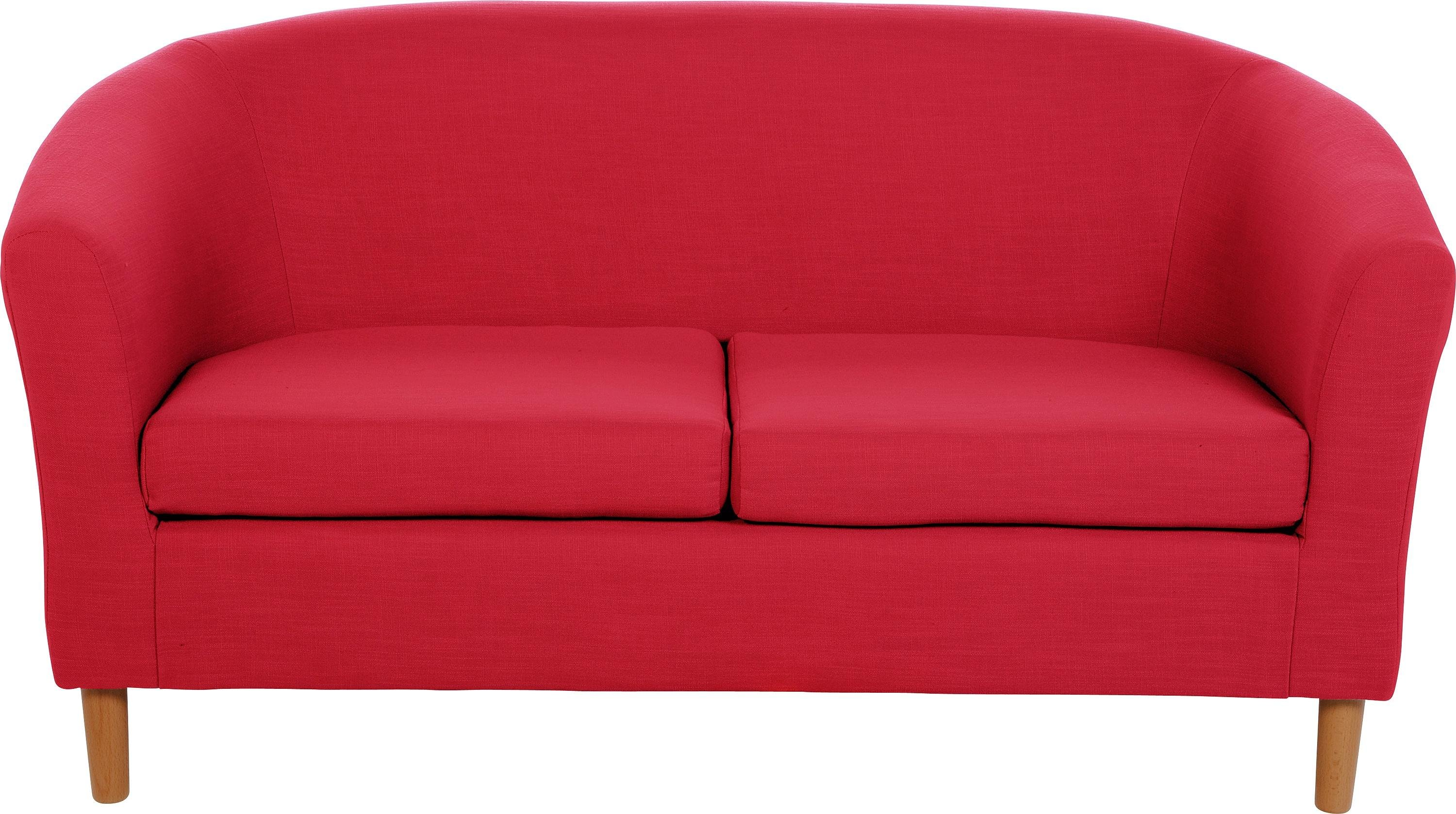 Sofa Settee Argos Buy Argos Home 2 Seater Fabric Tub Sofa Red Sofas Argos