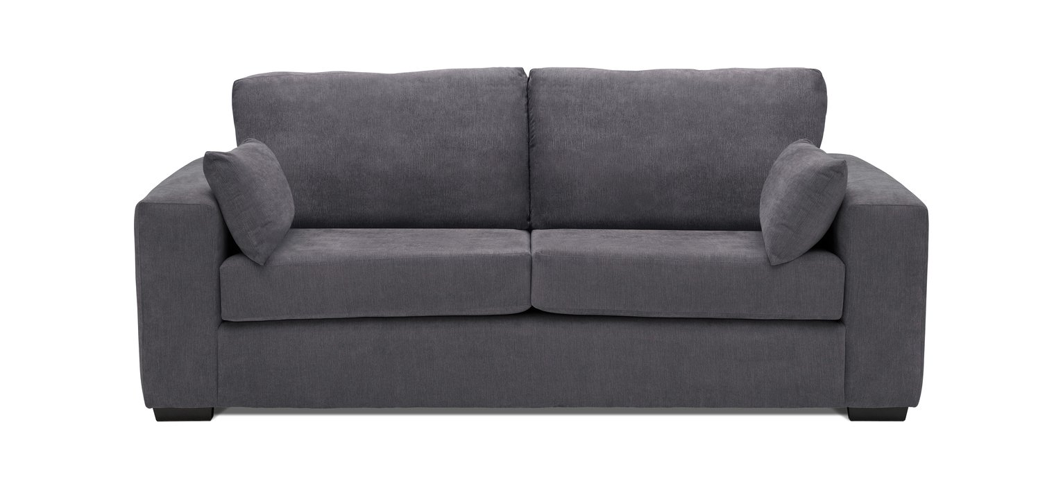 Sofa Settee Argos Buy Argos Home Eton 3 Seater Fabric Sofa Charcoal Sofas