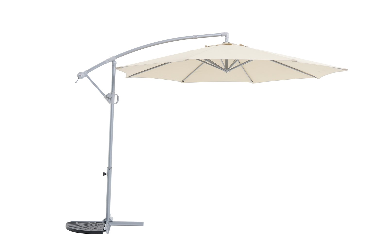 Buy Argos Home Rotating Overhanging Garden Parasol Cream Garden Parasols And Bases Argos - Garden Furniture Clearance Argos