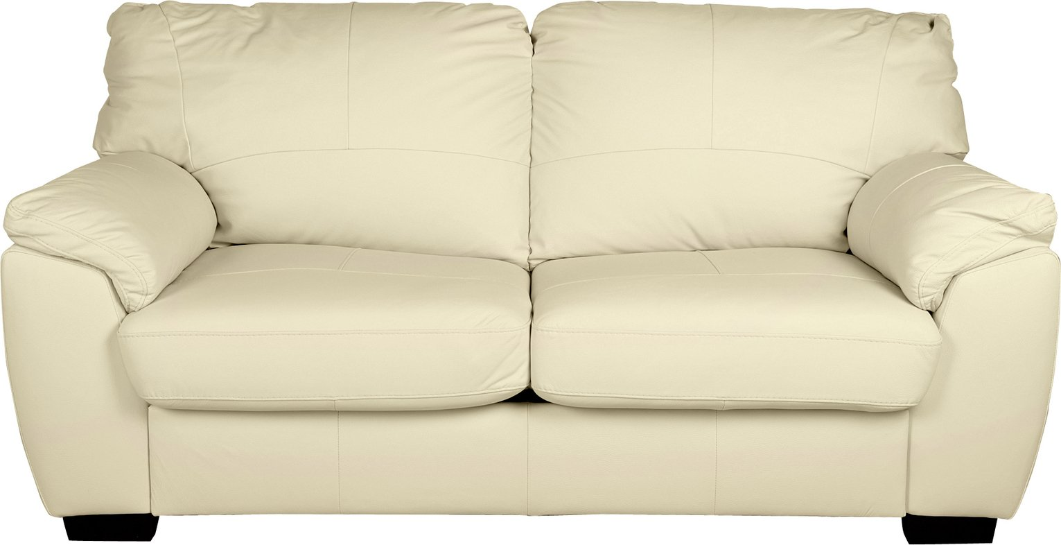 Sofa Settee Argos Buy Argos Home Milano 2 Seater Leather Sofa Bed Ivory