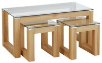 Buy Hygena Cubic Coffee Table Set with 2 Side Tables at ...