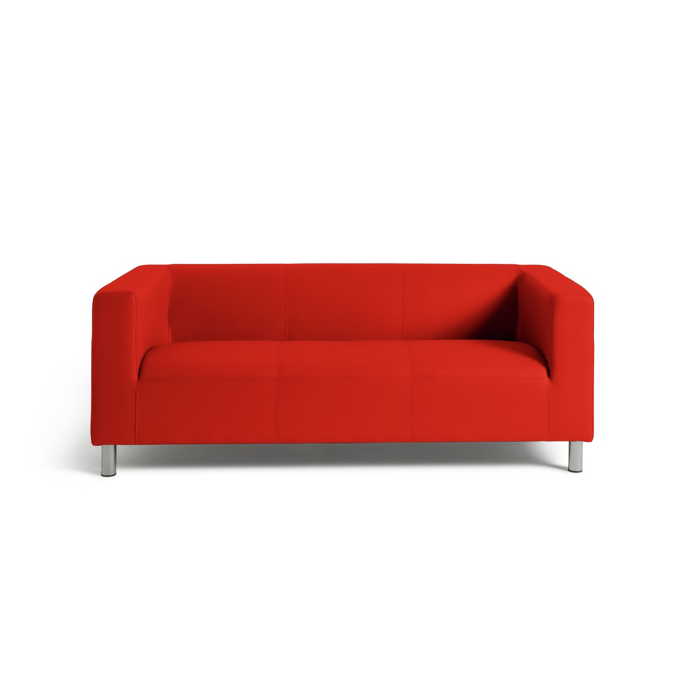 Sofa Settee Argos Buy Argos Home Moda 3 Seater Faux Leather Sofa Red