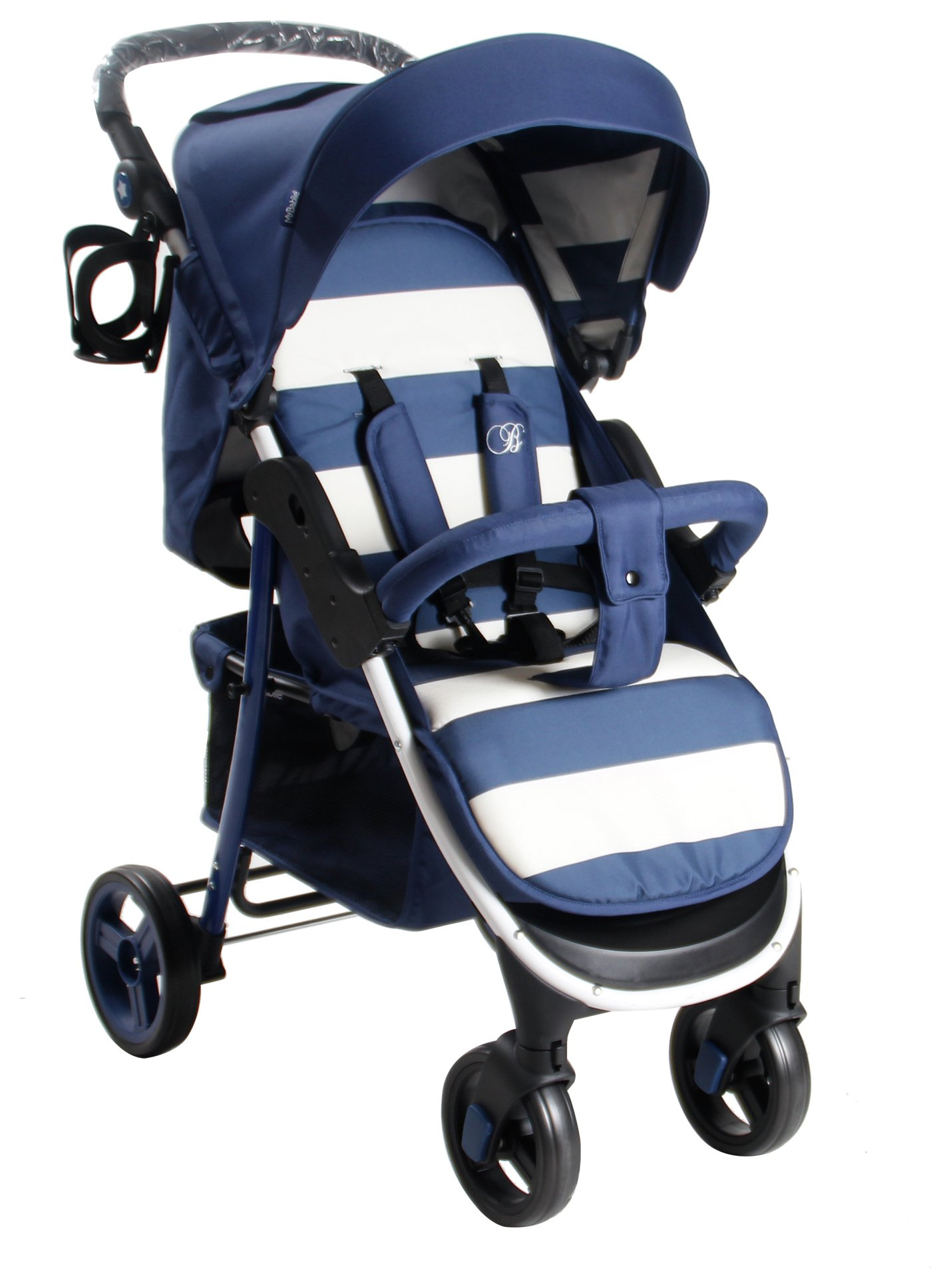 3 Wheel Prams Argos Buy My Babiie Billie Faiers Mb30 Stripe Pushchair Blue