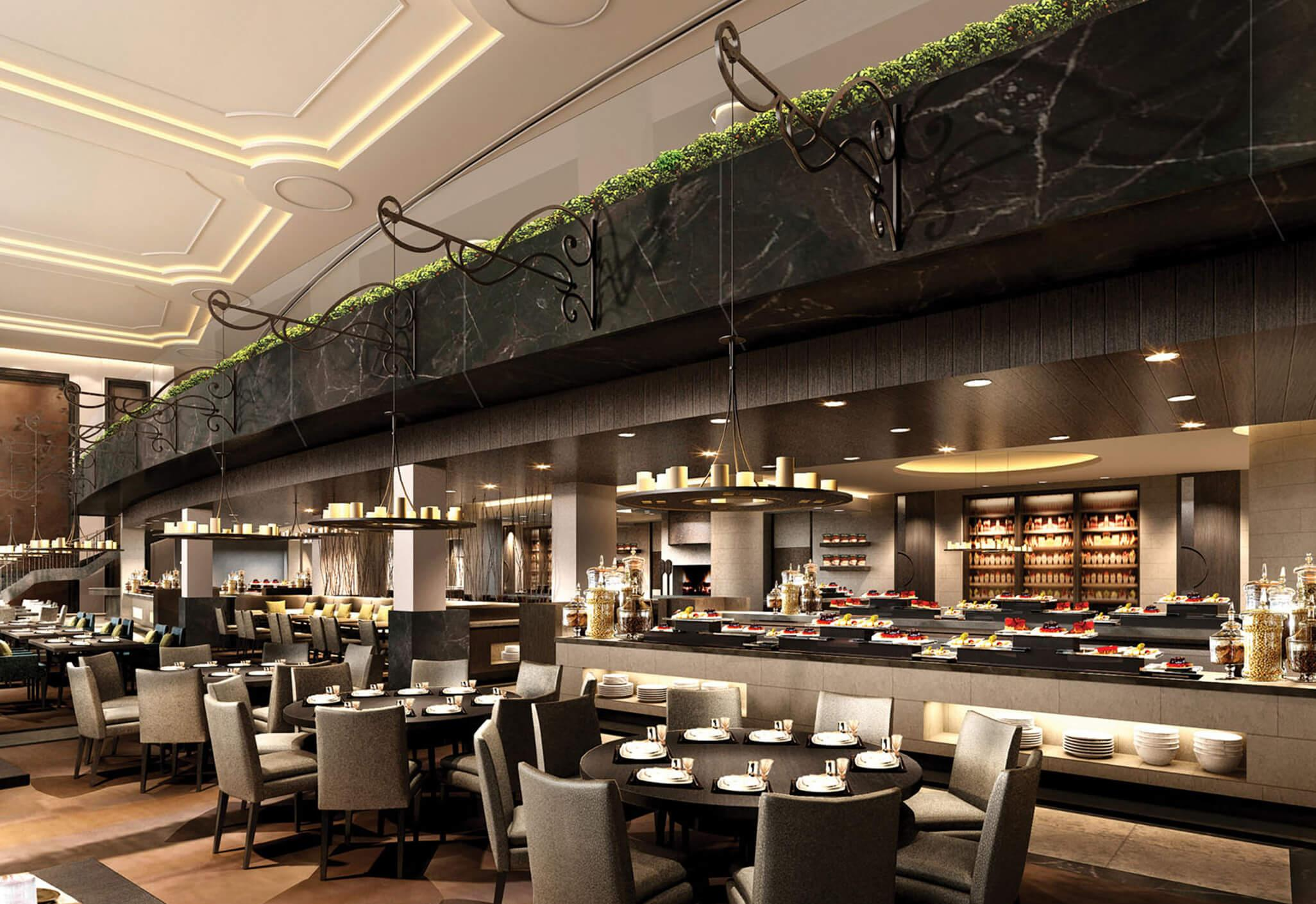 Buffet Cuisine Design All Day Dining Restaurant Aedas