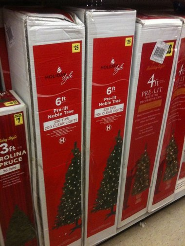 Dollar General 6 Foot Pre-Lit Christmas Tree $20 Saturday Only - dollar general christmas decorations