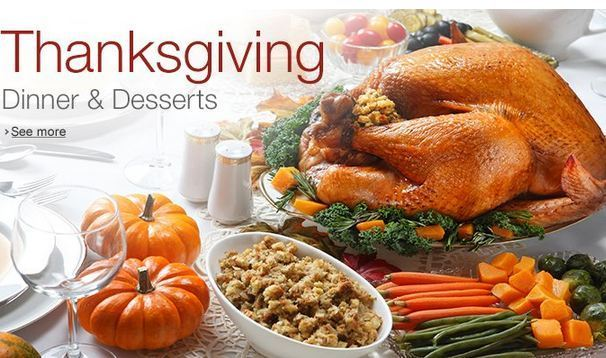 You can shop for Thanksgiving dinner items on Amazon AL