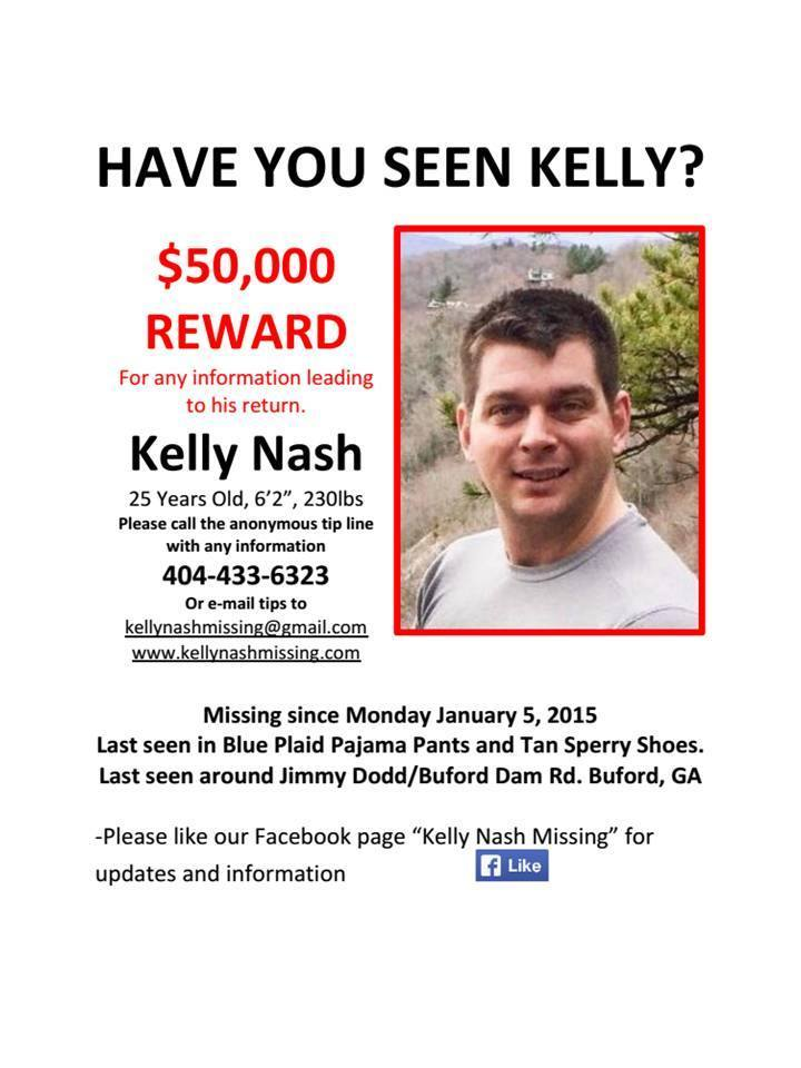$50,000 reward offered in case of missing Georgia man with Alabama - missing person flyer