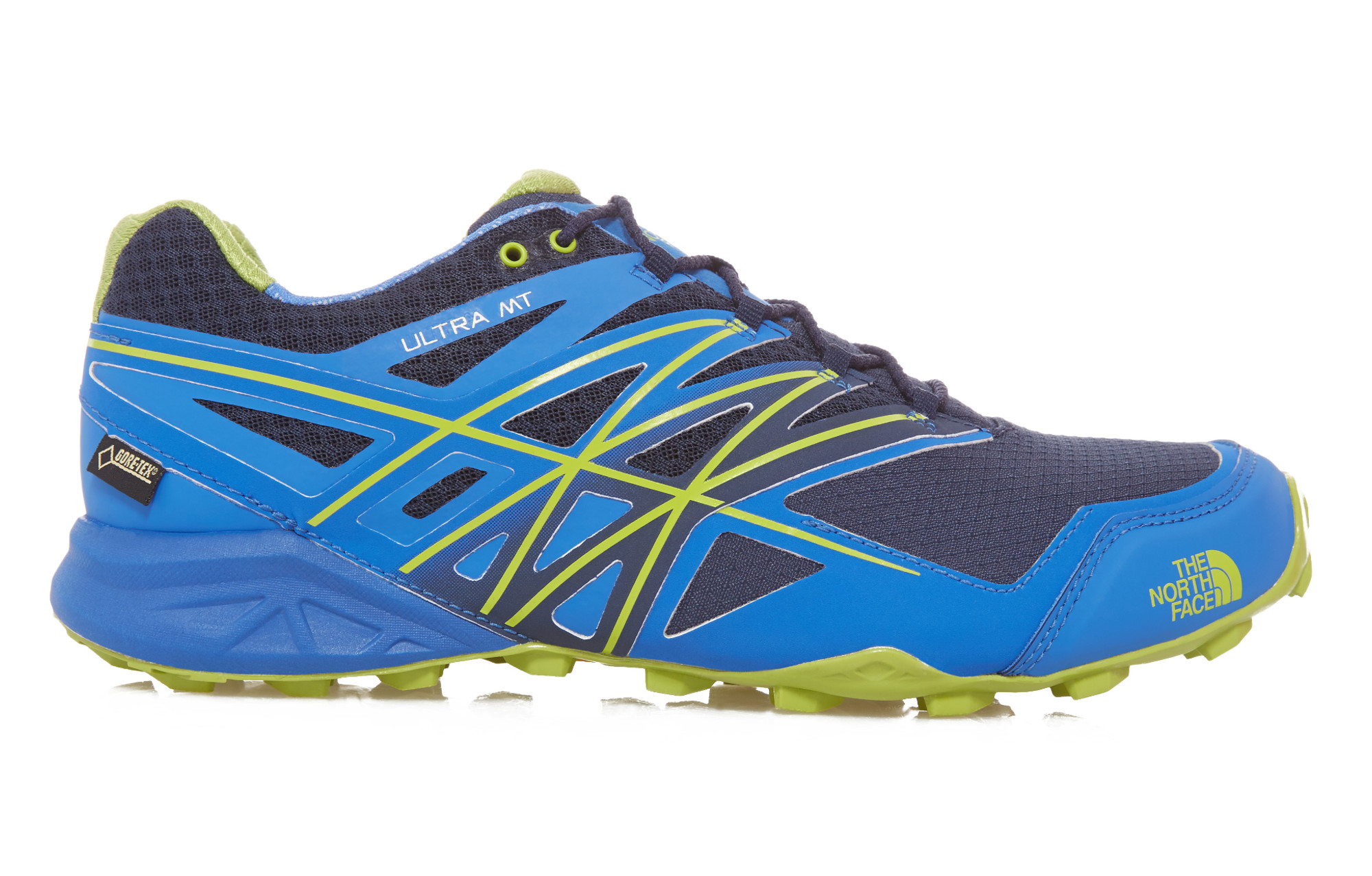The North Face Shoes Ultra Mt Gore Tex Blue Green Men